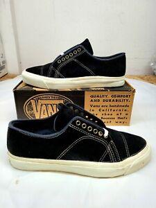 Vintage VANS shoes METROPOLIS Black Suede Made in USA Size 12 BMX Skateboarding