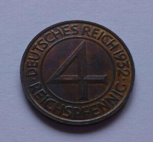 Germany, Weimar Republic 4 Reichspfennig 1932 (A), Imperial eagle