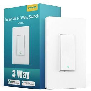 3 Way Smart Switch WiFi 3-Way Light Switch Compatible with Alexa Google