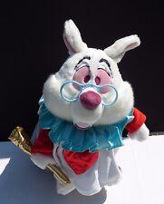 Disney Store Exclusive Alice in Wonderland White Rabbit Plush Trumpet Heart