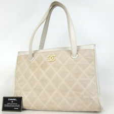 Authentic CHANEL 9788827 Wild stitch CC mark Shoulder Bag leather/canvas[Used]