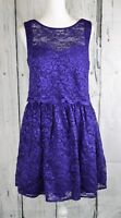 Morgan & Co Sparkle Lace Fit & Flare Dress A-Line Sleeveless Purple Size 13/14