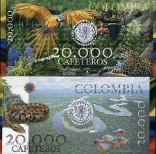 COLOMBIA EL DELA MONEDA MEDELLIN 20,000 CAFETOROS 2013 ANIMAL UNC