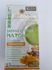 Hyleys Japanese Pure Matcha Tea with Ceylon Sencha, Turmeric Flavor 25 Teabags