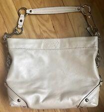 EUC Authentic COACH Hangbag Off White Pearl Shoulder Purse