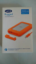 LaCie Rugged V2 500GB SSD External Drive USB 3.0 Thunderbolt 9000491 New Sealed