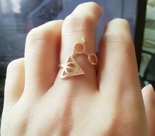 FREE GIFT BAG Gold Plated Harry Potter Adjustable Ring Cute Birthday Magic