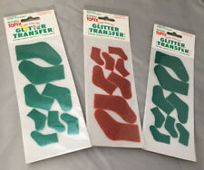 Lot Of 3 1991 Holiday Topix Glitter Transfer Sheets Christmas Stockings Iron On