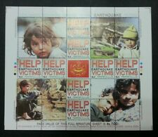 Pakistan Help Earthquake Victims 2005 Children Scourge (sheetlet) MNH