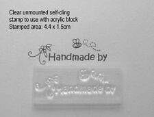 Cute Handmade By Clear Craft Unmounted Stamp For Kids / Childrens Cards & Tags