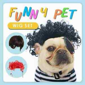 1xPet Wig Cosplay Props Dog Cat Cross-Dressing Hair Set Funny best H6L4