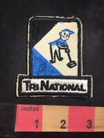Vtg (circa 1970s) Amazing Janitor Logo TRI NATIONAL Advertising Patch O80N