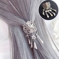 Womens Vintage Hair Clips Pins Slide Ponytail Crystal Hair Claw Accessories