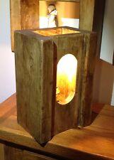 HAND-Crafted RUSTICO parete/Lampada da tavolo con lampadina a incandescenza Edison