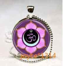 Om Pendant , Om Symbol Necklace , Namaste Yoga Jewelry ,Tibet Silver #939