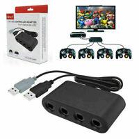 4 Port Gamecube NGC Controller Adapter Nintendo Wii U Switch & PC Adaptor USB UK