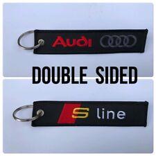 Car Embroidered Key Ring Keyring Keyfob Audi S Line Sport TT A 1 3 4 5 6 7 A1 A4