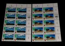U.N. VIENNA #114-115, 1991, NAMIBIA, INSC. BLKS/10, NICE!! LQQK!!