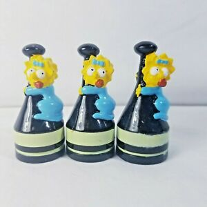 The Simpsons Chess Game Maggie as Black Pawn Replacement Piece Figure Lot of 3