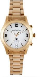 Verbalise Ladies Gold Plated Talking Watch with Bracelet Strap VLRC-208BG