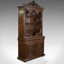 Antique, breton armoire, sculpté français Buffet, Chêne, late 19th century C.1880