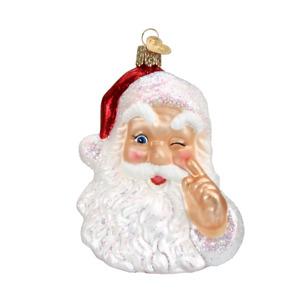 Old World Christmas NIGHT BEFORE CHRISTMAS SANTA (40166)N Glass Ornament w/Box