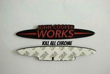 John Cooper Works Badge 13.CMx2.5CM Black Red Style - JCW MINI COOPER F56 R56