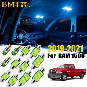 17 Blue LED interior lights package kit for 2019-2021 Dodge Ram 1500 2500 3500
