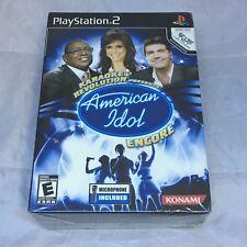 Karaoke Revolution Presents: American Idol Encore Bundle PS2 New Playstation 2