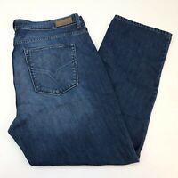 DKNY Denim Jeans Mens 40X30 Blue Straight Leg 100% Cotton Medium Wash 5 Pockets