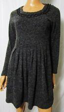 BLONDIX Mini ABITO Vestito Dress TG.XL ma veste una tg.M con nastrino Grigio