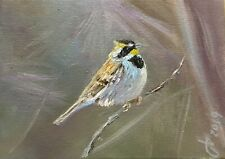 Original Oil Painting, Animals, LITTLE BIRD, 5x7