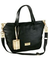 Versace Womens Black/Gold Handbag Purse Versace Perfume Tote