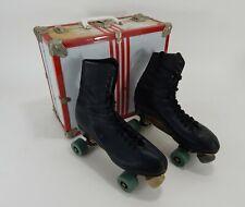 Vintage Chicago Roller Skate Co. Skates/Carrying Case w/Working Lock Size 9