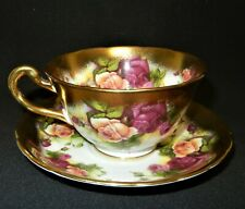 ROYAL CHELSEA GOLDEN ROSE SCALLOPED, HEAVY GILD, ROSES