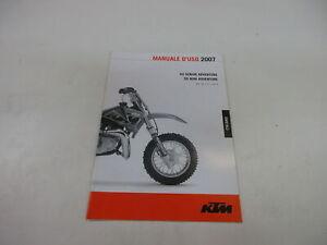 Ktm 50 Mini Superior 2007 Manual de Instrucciones Mauale D´ Uso 3.211.140it