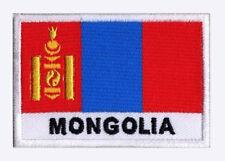 Patch écusson brodé patche drapeau MONGOLIE Mongol 70 x 45 mm Pays Monde