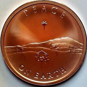 2019 Silver Shield PEACE ON EARTH 2 oz COPPER Round Mini-Mintage 415 made JESUS