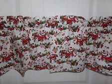 Red and White snowman Christmas Curtain valance