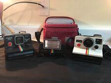 Polaroid OneStep & OneStep Plus Cameras Rainbow Stripe + Q Light Vintage