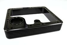 Guzzi CNC Billet Sump Spacer V35 V50 V65 V7 Classic V7 II Finned Style - Black