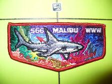 Malibu Lodge 566,S-10,1915 1990, 75th Ann,OA Flap,Red Bdr,225,228, California,CA