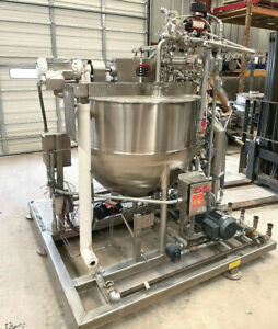 Lee 125 Gallon jacketed Double Motion Mix Kettle with scrape agitation