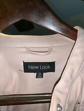 """""""NEW LOOK"""" LADIES FAUX LEATHER~ ROSE PINK JACKET US SIZE Xl Runs Small"""