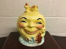 VINTAGE ROBINSON RANSBOTTON THE COW JUMPED OVER THE MOON COOKIE JAR NICE SHAPE