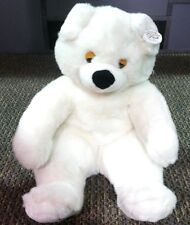 "Gerber ""Precious Plush"" Large 17"" Cuddly Soft White Polar Teddy Bear Sleepy Eyes"