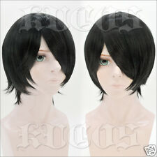 NARUTO Uchiha Sasuke Anime Costume Cosplay Short Wig +Cap + Track