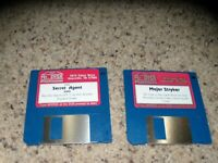 "2 PC Games: Secret Agent & Major Stryker on 3.5"" disks - Tested"