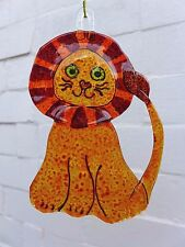 Lion design Fused Glass Art unique gift for any occasion Birthday Christmas