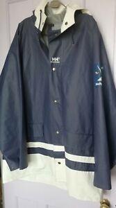 Vintage Helly Hansen Waterproof Sailing Jacket Coat Large ,54-56 , Polyvinyl